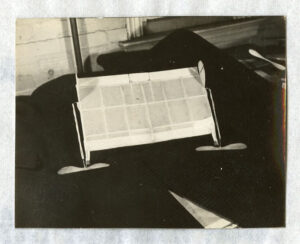 Photo of model #1 from Robert Gilruth's 1936 Master's Thesis