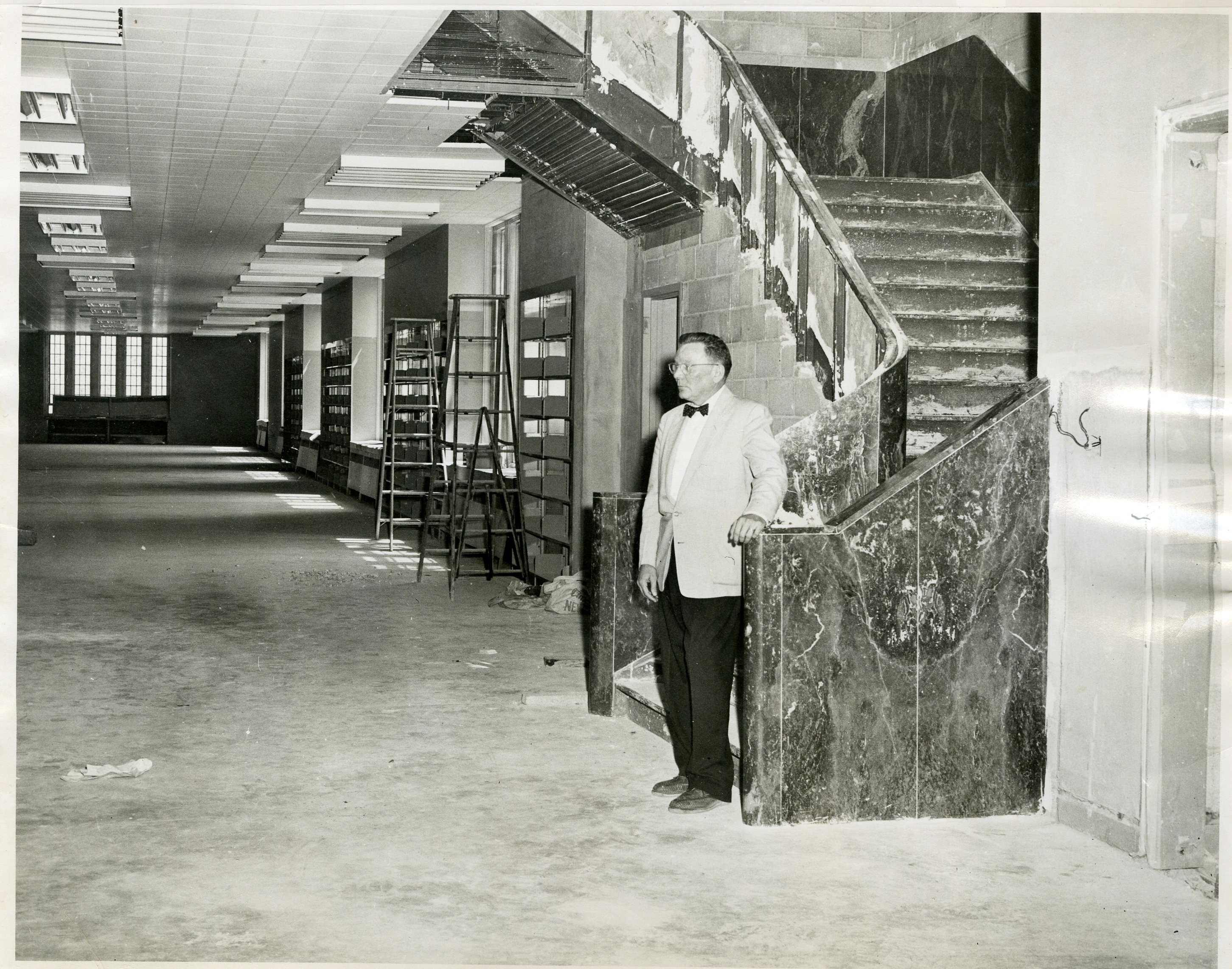 Newman Library, entrance interior, c.1953