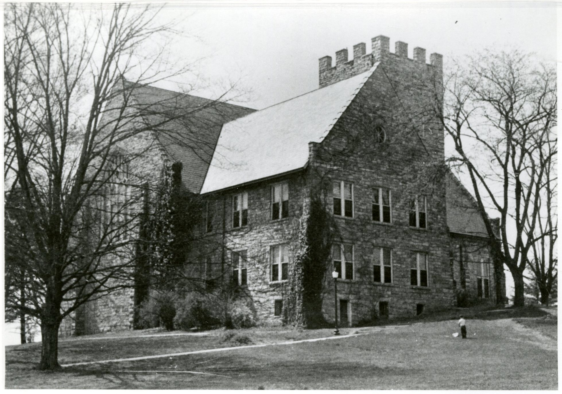 Old Library, exterior, March 1953