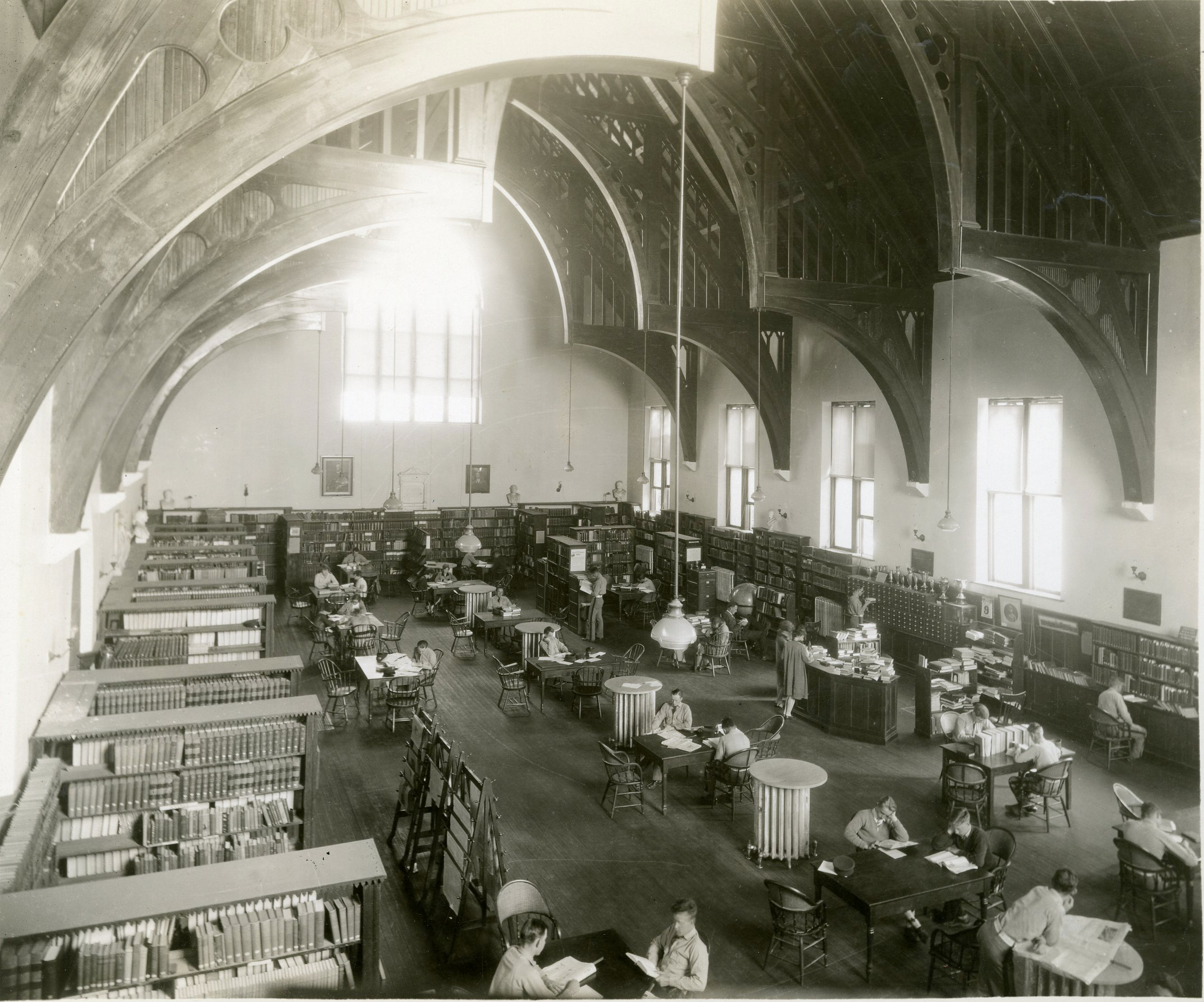 Old Library, interior, 1930