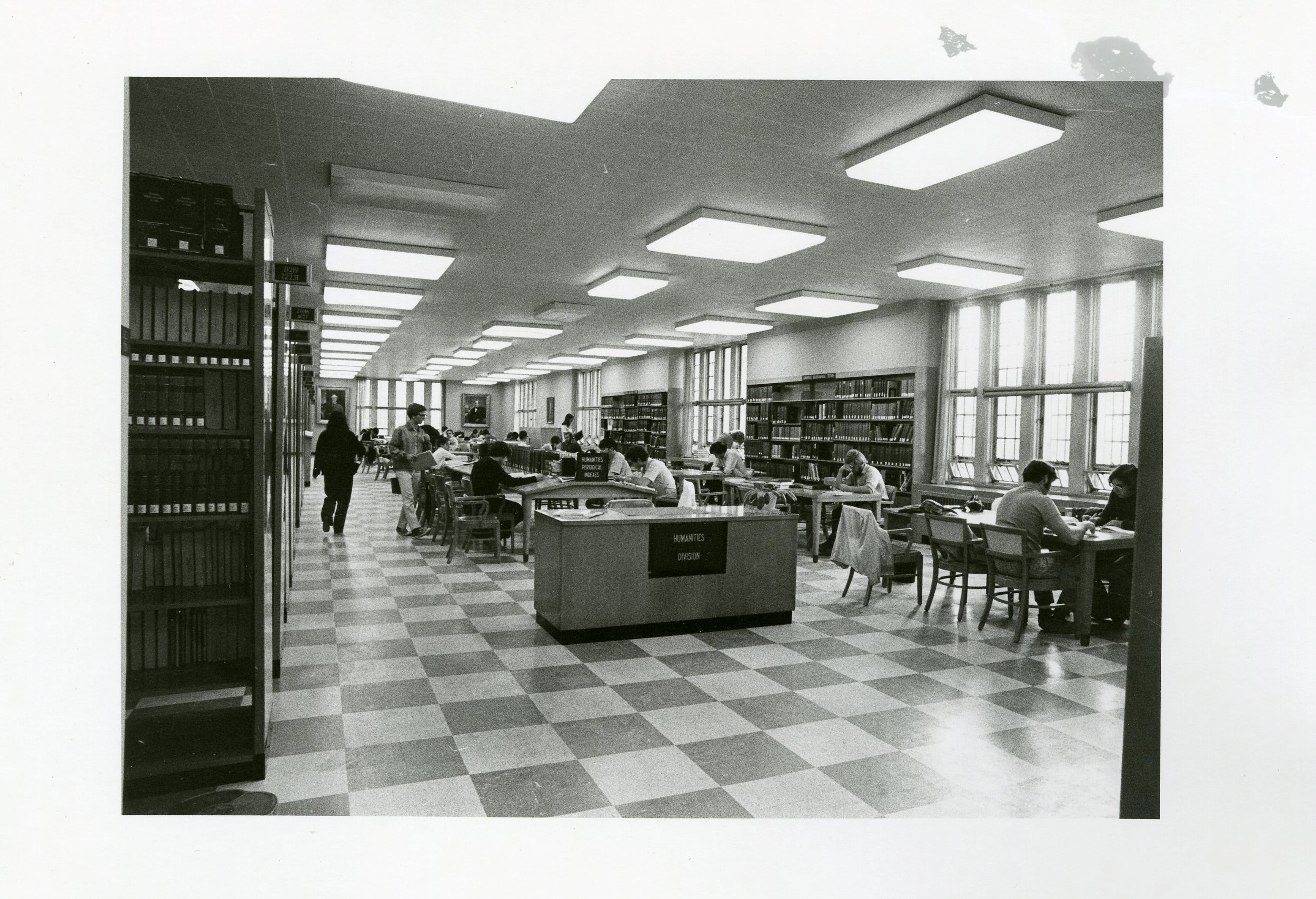 Newman Library, interior, 1971