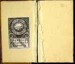 Inside Front cover showing bookplate from Sondley Reference Library