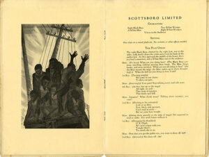 From Scottsboro Limited, the first pages of the play by Langston Hughes