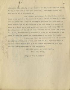 Image of McBryde's 1904 letter to Carter Glass