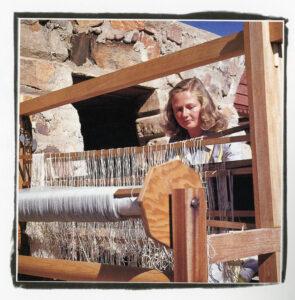 Woman at loom