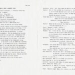 Two typewritten pages written in the format of a stage play.