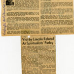 2 newspaper clippings