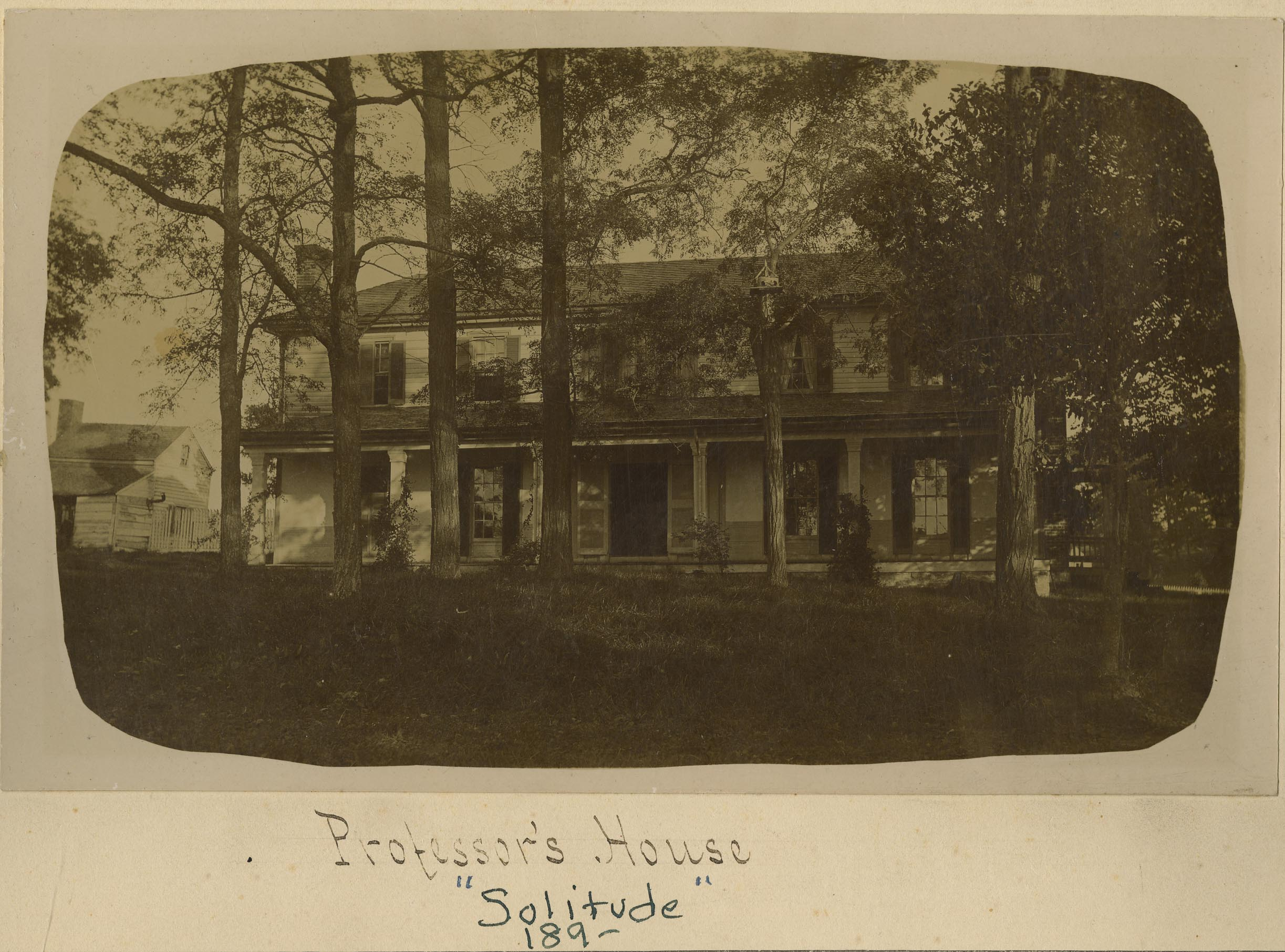Solitude, 1890s, then a private residence.