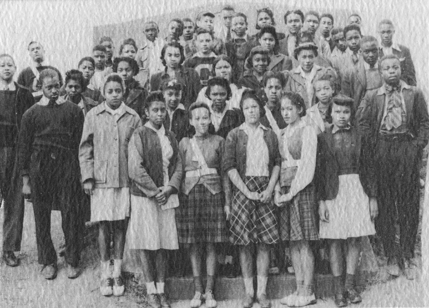 Junior class, Christiansburg Institute, 1942. Beatrice Freeman, a class officer, is second row, second from the right.