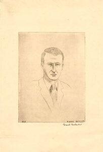 Drawing of Dayton Kohler by Karl Jacob Belser, 1931.