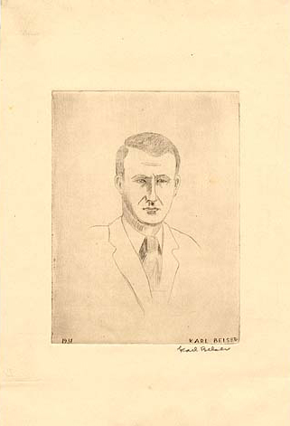 Drawing of Dayton Kohler by Karl Jacob Belser, 1931.