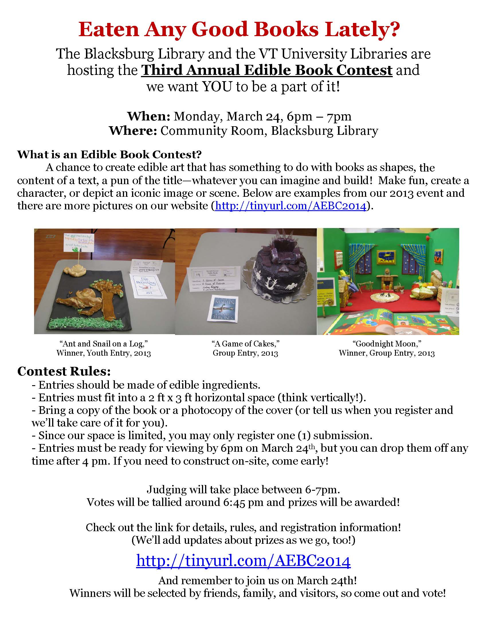 3rd Edible Book Contest