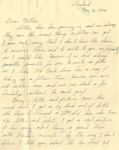 Letter from Jimmy Monteith to his mother, 14 May 1944, first page