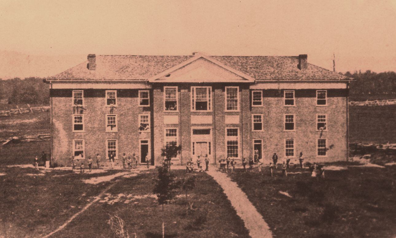 Former home of The Preston & Olin Institute, the lone VAMC campus building included classrooms, offices, a chapel, and student lodging.