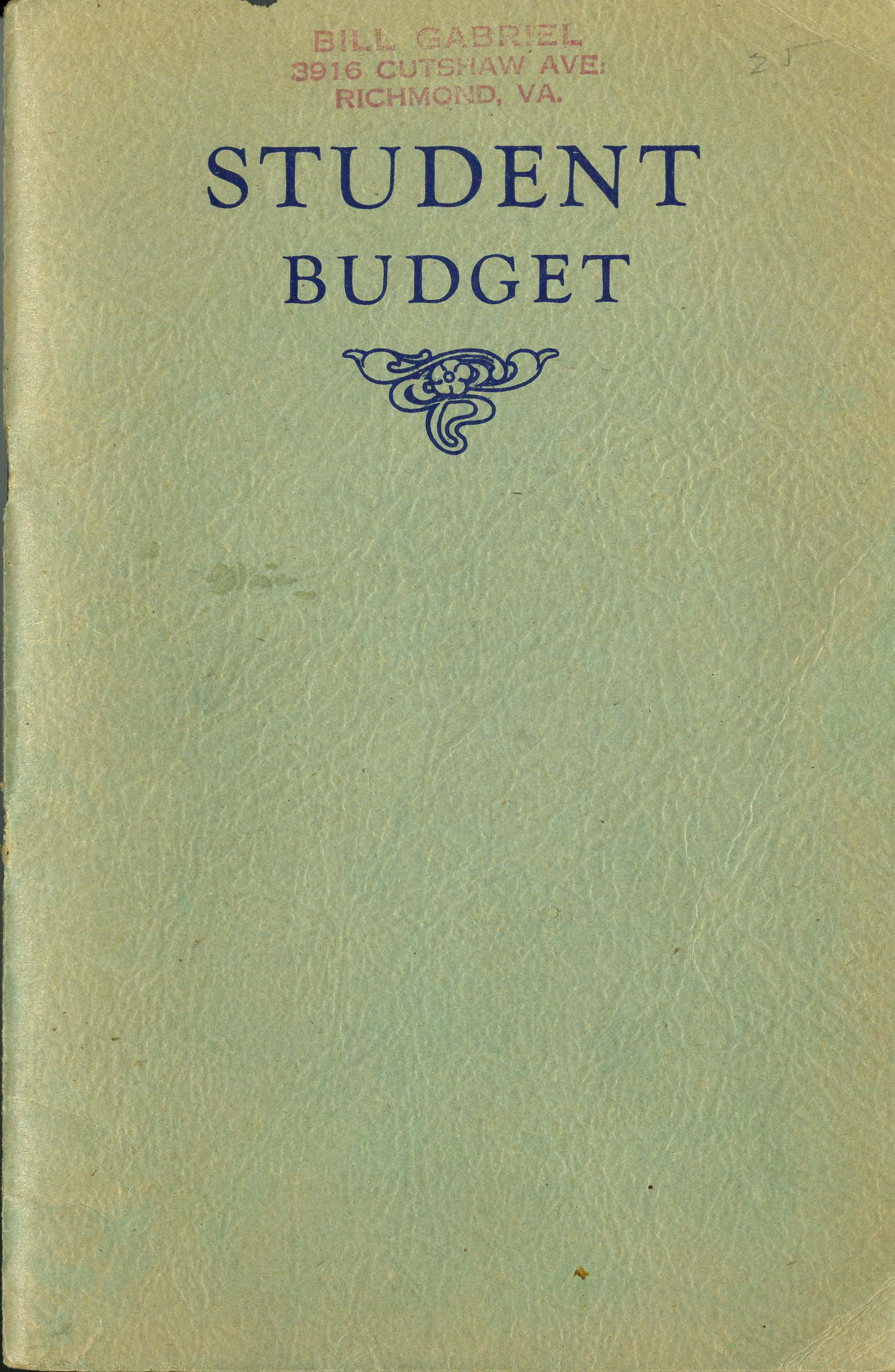 Student Budget cover
