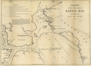 Chart of the Upper Limit of Baffin Bay, Illustrating an Arctic Boat Journey