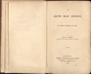 Title page for Hayes's An Arctic Boat Journey