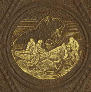 Embossed illustration from the book's cover