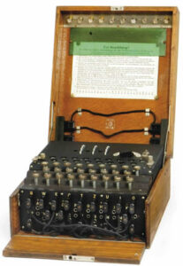 A three-rotor German Enigma Machine