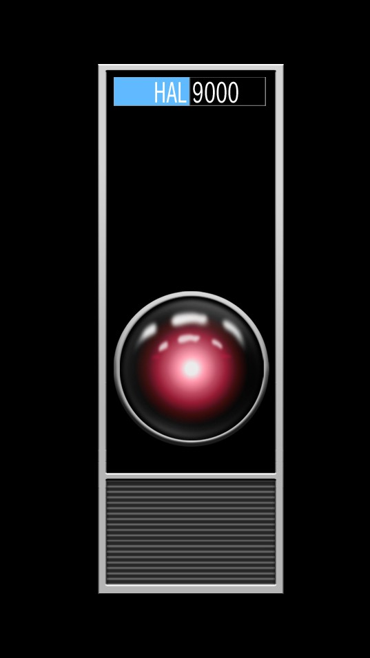 The camera eye of the HAL 9000 from Stanley Kubrick's 2001 : A Space Odyssey