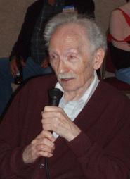 Jack Good at his 90th birthday celebration, 2006.