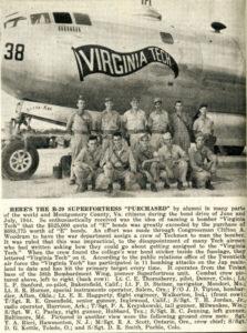 "B-29 ""Virginia Tech"" from The Techgram, 15 August 1945"