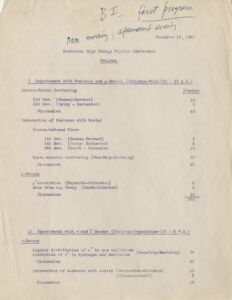 Scientific Program, Original, page 1