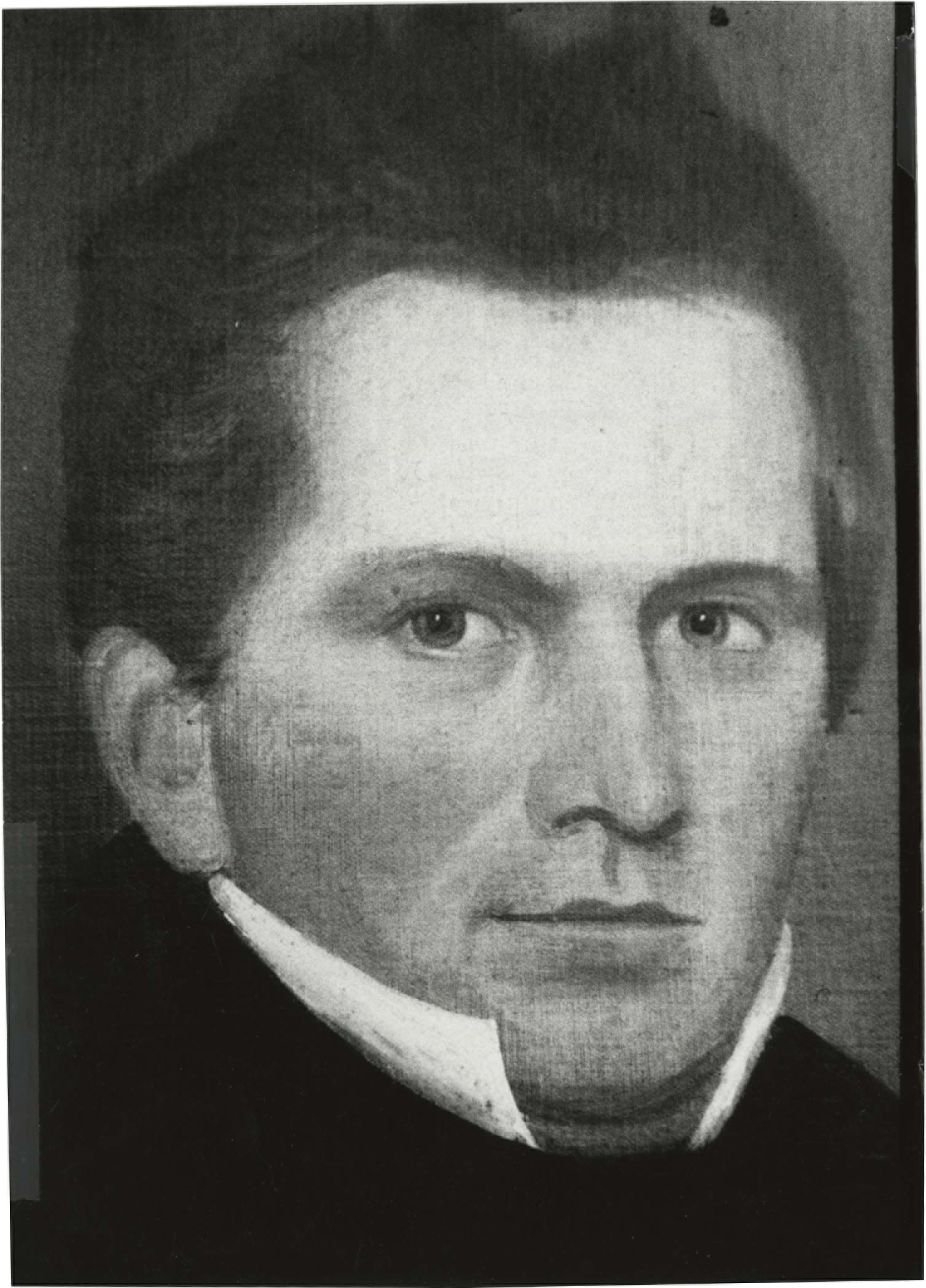 black and white image of head of James Kent