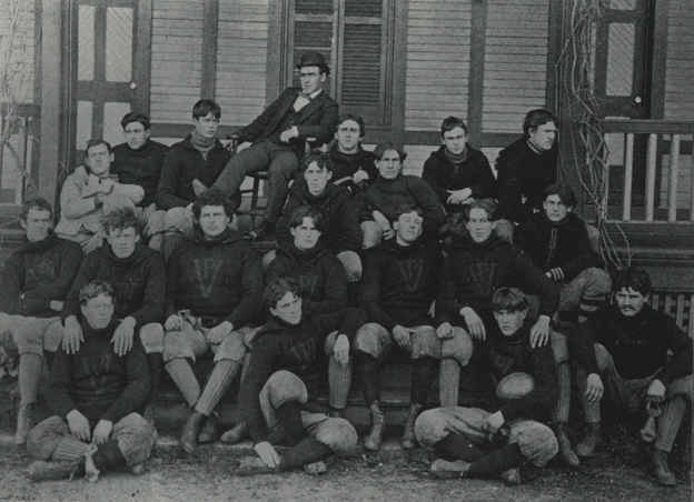 The first orange-and-maroon jersey featured an oversized V under a smaller P, reflecting a de-emphasis of the word Institute in popular usage of the schools name.