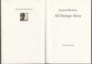 All Strange Away, title page