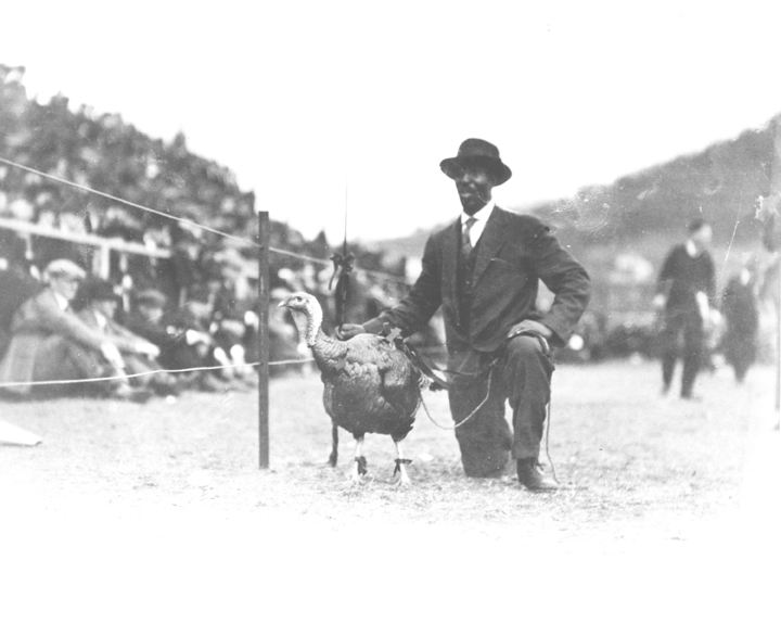 Floyd Mead and Turkey at a Football Game