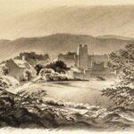 Sketch of Virginia Tech by G. Preston Frazer