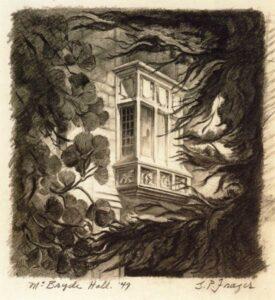 McBryde Hall (sketch) by G. Preston Frazer