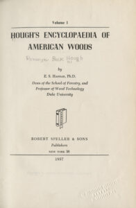Title page, Hough's Encyclopedia of American Woods