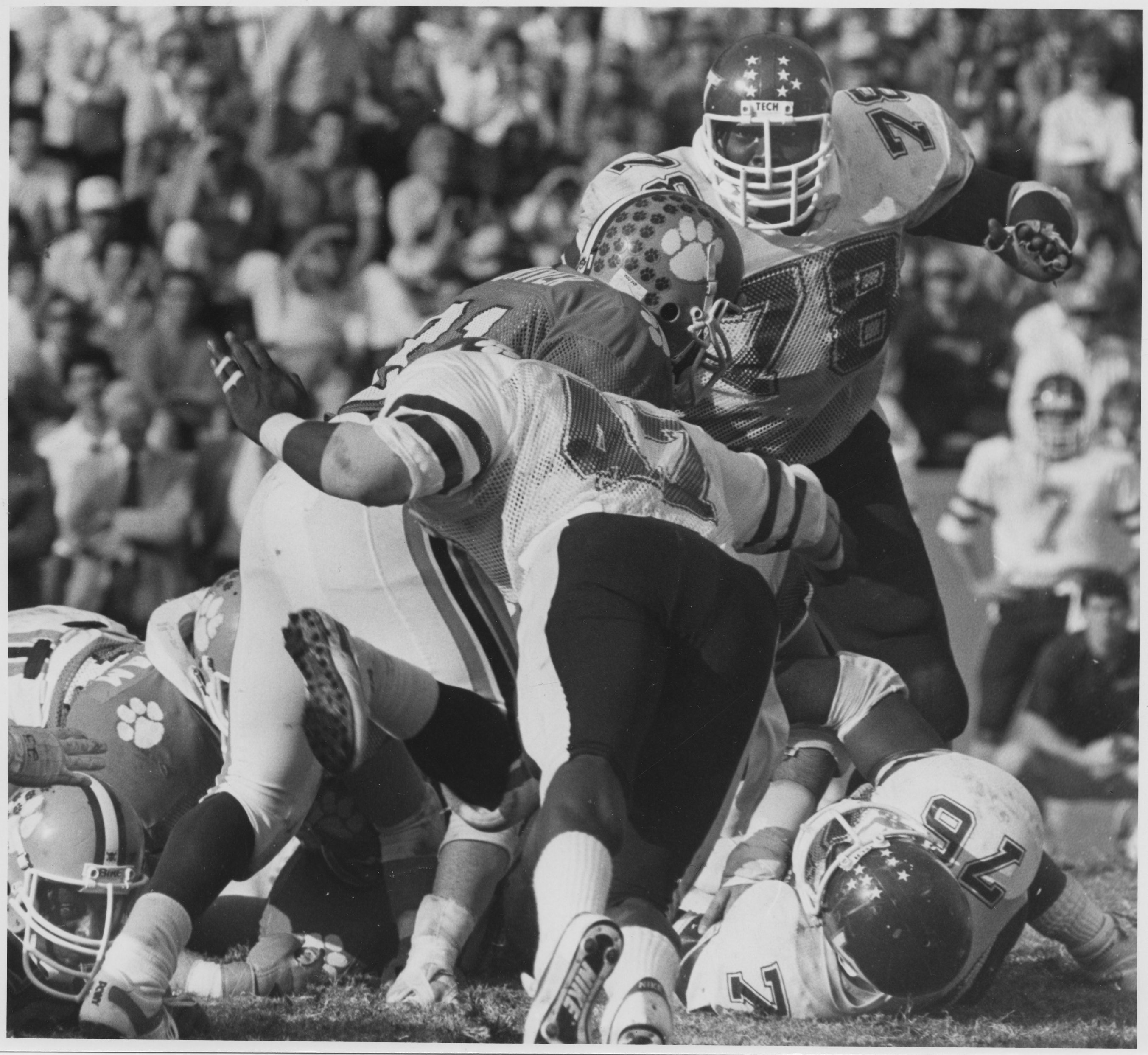 Photograph; Dates: 1981-1984 (Virginia Tech career dates); football;