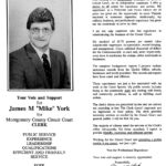 "James M. ""Mike"" York, Independent candidate, 1991"