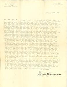Dana Harmon Letter asking for support, p2