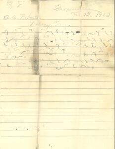 Dana Harmon Letter asking for support, p1