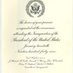 Invitation for Pres. Harry S Truman's 1949 presidential inauguration