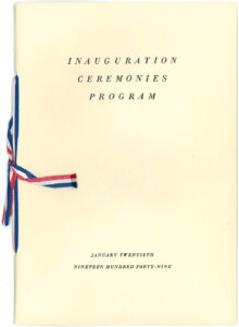 Program for Pres. Harry S Truman's 1949 presidential inauguration
