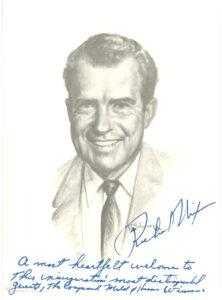 Program of Pres. Richard M. Nixon's 1969 presidential inauguration, insert