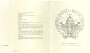 Program of Pres. Richard M. Nixon's 1969 presidential inauguration