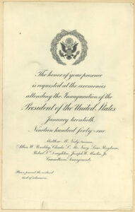 Invitation to Pres. Franklin D. Roosevelt's 1941 inauguration, p. 1