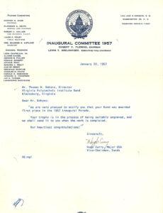 Highty-Tighties 1957 letter