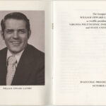 Program for Lavery's 1975 presidential inauguration