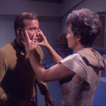 "Nancy Crater treating Kirk as the ""old salt"" that he is"