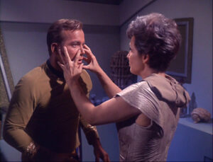 """Nancy Crater treating Kirk as the """"old salt"""" that he is"""