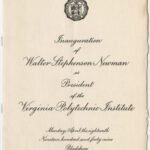 Program for Newman's 1949 presidential inauguration