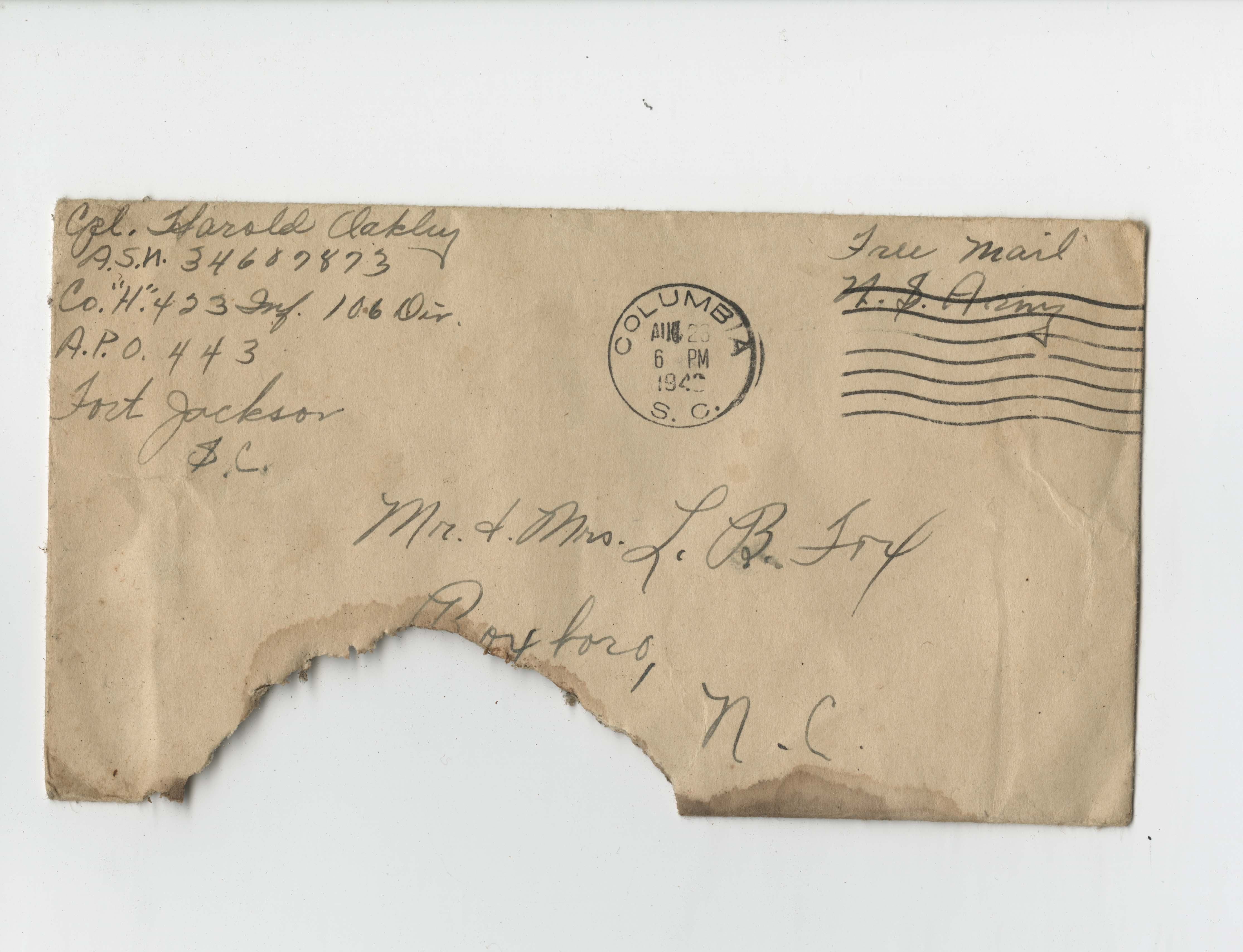 Ms2017-004_TurnerFamilyPapers_Envelope_1943_0823a