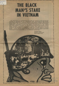 Black Man's Stake in Vietnam, Black Panther Party, undated